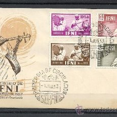 Sellos: IFNI 1953, EDIFIL Nº 89/92, PRO INFANCIA, PRIMER DIA DE CIRCULACION. Lote 36531407