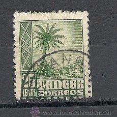 Sellos: TANGER 1948-1951, EDIFIL Nº 156, INDIGENAS Y PAISAJES. MATASELLADO. Lote 37083356