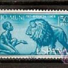 Sellos: SELLO DE ESPAÑA COLONIAS RIO MUNI EDIFIL 61 A 71 AÑO 1966 PRO INFANCIA LOXODHONTA PHANTERA AFRICANA . Lote 37148567