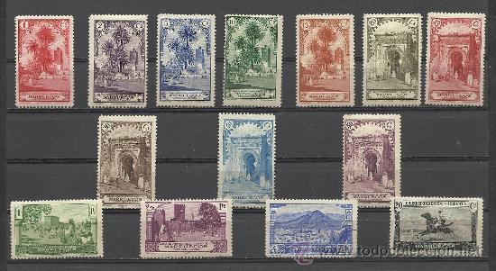 IMPORTANTE SERIE DE MARRUECOS Nº 105/118 NUEVA CON CHARNELA MUY ALTO VALOR DE CATALOGO (Sellos - España - Colonias Españolas y Dependencias - África - Marruecos)