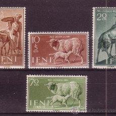 Sellos: IFNI 152/55** - AÑO 1959 - PRO INFANCIA - FAUNA - ANIMALES DOMESTICOS. Lote 38130802