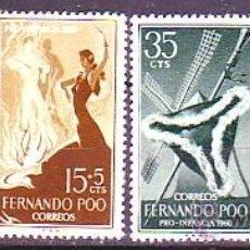 Sellos: FERNANDO POO. 188/91 MANUEL DE FALLA. NUEVA. Lote 158824796