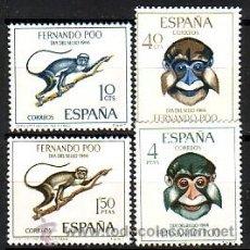 Timbres: FERNANDO POO 251 / 254 - DIA SELLO. MONOS. NUEVA SIN FIJASELLOS.. Lote 193436908
