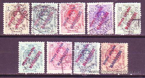 TANGER 1 / 9 - ALFONSO XIII HABILITADO 1909-14. USADA. CAT. 56€. (Sellos - España - Colonias Españolas y Dependencias - África - Tanger)