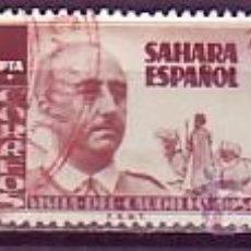 Sellos: SAHARA 088/90 VISITA GENERAL FRANCO. USADA. Lote 95447872