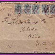 Sellos: TÁNGER CARTA 10 JULIO 1915 A ESTADOS UNIDOS, FRANQUEO EDIFIL Nº 2 (5) (O) RARA Y ESCASA. Lote 39162063