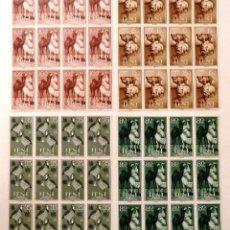 Sellos: SELLOS IFNI 1960. EDIFIL 159-162. PRO INFANCIA. NUEVOS. 12 SERIES. FAUNA.. Lote 39621022