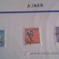 Sellos: LOTE DE 3 SELLOS DE AJMAN .OLIMPICOS. Lote 39859658