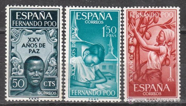 FERNANDO POO, EDIFIL Nº 239/41, XXV AÑOS DE PAZ, NUEVOS *** (Sellos - España - Colonias Españolas y Dependencias - África - Fernando Poo)