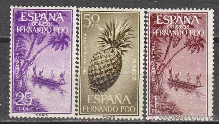 FERNANDO POO, EDIFIL Nº 223/5, PRO INFANCIA 1964, NUEVOS *** (Sellos - España - Colonias Españolas y Dependencias - África - Fernando Poo)