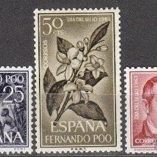 Sellos: FERNANDO POO, EDIFIL Nº 220/2, DIA DEL SELLO 1963, NUEVOS CON SEÑAL DE CHARNELA. Lote 40055143