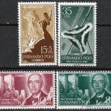 Sellos: FERNANDO POO EDIFIL Nº 188/91, MANUEL DE FALLA, EL SOMBRERO DE TRES PICOS, NUEVOS SIN SEÑAL CHARNELA. Lote 53743794