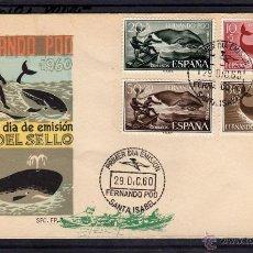 Sellos: FERNANDO POO, PRIMER DIA DE EMISION, DIA DEL SELLO 1960 (EDIFIL 192/95), SANTA ISABEL. Lote 40541258