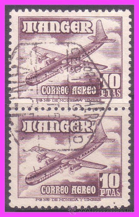 TÁNGER 1948 AVIONES, EDIFIL Nº 171 B2 (O) (Sellos - España - Colonias Españolas y Dependencias - África - Tanger)