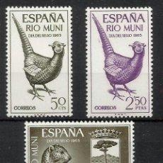 Sellos: RIO MUNI OCUPACION ESPAÑOLA 1965 FAUNA EDIFIL 66-8 NUEVOS** VALOR 2013 CATALOGO 3.50 EUROS. Lote 205831328