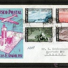 Sellos: PRO MUSEO POSTAL MARRUECOS ESPAÑOL 1952, CARTA DE TETUAN A TANGER. Lote 40832318