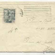 Sellos: CIRCULADO 1947 DE BARCELONA A TETUAN . Lote 40858546
