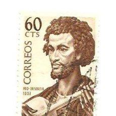 Selos: SAHARA ESPAÑOL 60 CTS PRO INFANCIA 1953 - USADO. Lote 41181569