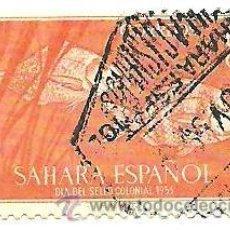 Selos: SAHARA ESPAÑOL 60 CTS DIA DEL SELLO COLONIAL 1953 - USADO. Lote 41214974