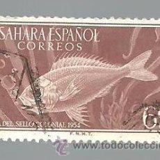 Selos: SAHARA ESPAÑOL 60 CTS DIA DEL SELLO COLONIAL 1954 - USADO. Lote 41215333