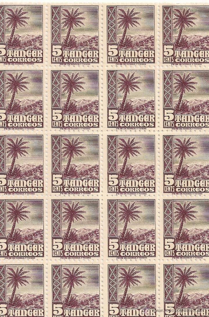 BLOQUE 20 SELLOS TANGER (Sellos - España - Colonias Españolas y Dependencias - África - Tanger)