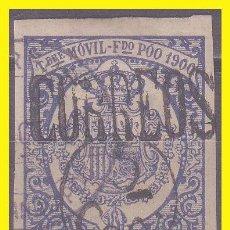 Sellos: FERNANDO POO 1900 TIMBRE MÓVIL DE 1900 HABILITADO, EDIFIL Nº 48A (O). Lote 42552480