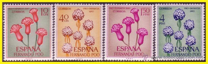 FERNANDO POO 1967 PRO INFANCIA, EDIFIL Nº 255 A 258 * * (Sellos - España - Colonias Españolas y Dependencias - África - Fernando Poo)