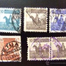 Sellos: MARRUECOS PROTECTORADO ESPAÑOL 1937/43 BENEFICIENCIA ( FRANCO ) EDIFIL Nº 0000 º FU. Lote 44346987