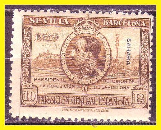 SAHARA 1929 EXPOSICIONES SEVILLA Y BARCELONA EDIFIL Nº 35 * * (Sellos - España - Colonias Españolas y Dependencias - África - Sahara)