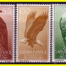 Sellos: SAHARA 1957 PRO INFANCIA EDIFIL Nº 139 A 141 * * SERIE COMPLETA. Lote 44834448