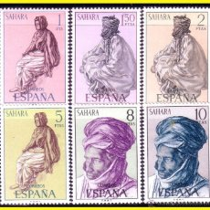Sellos: SAHARA 1972 SERIE BÁSICA EDIFIL Nº 297 A 302 * *. Lote 44854983
