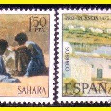 Sellos: SAHARA 1975 PRO INFANCIA EDIFIL Nº 320 Y 321 * SERIE COMPLETA. Lote 44855059