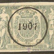 Sellos: FISCALES - PÓLIZA 1905 CON SOBRECARGA 1907 ÁFRICA OCCIDENTAL. Lote 44895472