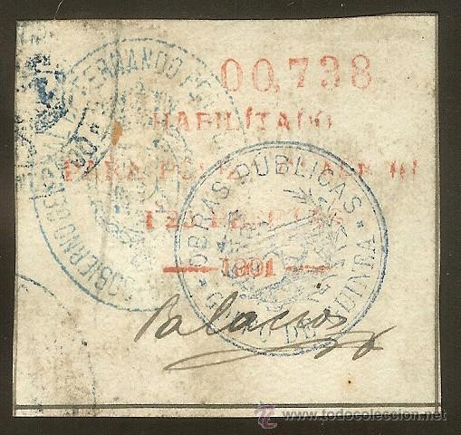 FISCALES - PÓLIZA 1901 1,25 P. ROJA. FERNANDO POO (Sellos - España - Colonias Españolas y Dependencias - África - Fernando Poo)