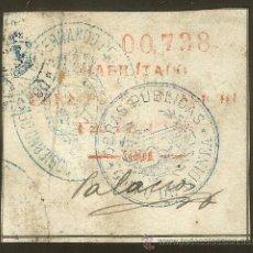 Sellos: FISCALES - PÓLIZA 1901 1,25 P. ROJA. FERNANDO POO. Lote 44896067