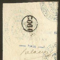 Sellos: FISCALES - PÓLIZA 1901 0,50 P. Nº AZUL CON RESELLO CIRCULAR DE 1902 EN PAREJA. FERNANDO POO.. Lote 44909475
