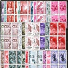 Sellos: 13 SERIES NUEVAS EN BLOQ. DE 4 DE 1962 A 1967 NUEVOS.***ED.. Nº 187 A 228. EXCEPTO 221/24.CATº 108 €. Lote 45042246
