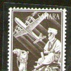 Sellos: SÁHARA - 189*** - AÑO 1961 - INDÍGENA Y AVIÓN EN VUELO. Lote 45536312