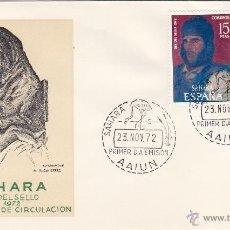 Sellos: SAHARA Nº 308/09 AÑO 1972 DIA DEL SELLO , PINTURA . SOBRE PRIMER DIA SPD / FDC EX COLONIAS .. Lote 103723852