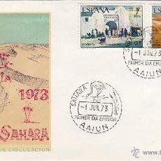 Sellos: SAHARA Nº 310/11 AÑO 1973 PRO INFANCIA , PINTURA . SOBRE PRIMER DIA SPD / FDC EX COLONIAS .. Lote 103723904