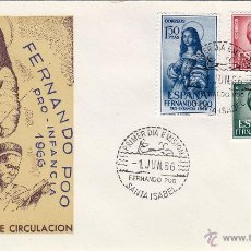 Sellos: FERNANDO POO Nº 248/50 AÑO 1966 INFANCIA , VIRGEN SOBRE PRIMER DIA SPD / FDC . EX COLONIAS ESPAÑA . Lote 45851780