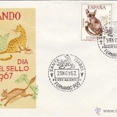 Sellos: FERNANDO POO Nº 259/61 AÑO 1967 FAUNA SALVAJE . SOBRE PRIMER DIA SPD / FDC . EX COLONIAS ESPAÑA . Lote 74177063