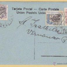 Sellos: TARJETA POSTAL, SANTA ISABEL - FERNANDO POO 1926, SELLOS TERRITORIOS ESPAÑOLES DEL GOLFO DE GUINEA. Lote 45973890