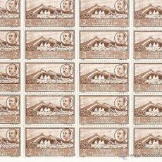Sellos: BLOQUE 20 SELLOS PAISAJE CON EFIGIE DE FRANCO 1950 NUEVO CON GOMA. Lote 46196232