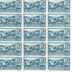 Sellos: BLOQUE 15 SELLOS PAISAJE CON EFIGIE DE FRANCO 1950 NUEVOS CON GOMA. Lote 46196271