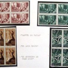 Sellos: SELLOS FERNANDO POO 1960. NUEVOS. PRO INFANCIA. BLOQUE DE CUATRO. EDIFIL 188/191.. Lote 46371037