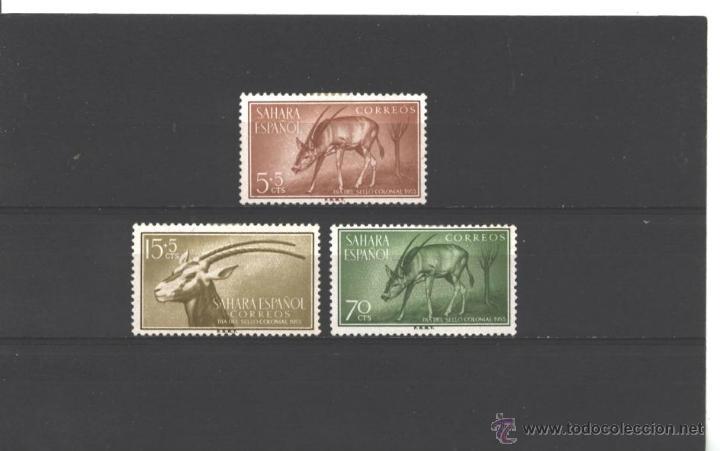 SAHARA ESPAÑOL 1955 - EDIFIL NRO. 123-25 - CHARNELA (Sellos - España - Colonias Españolas y Dependencias - África - Sahara)