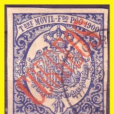Sellos: FERNANDO POO 1900 TIMBRE MÓVIL HABILITADO, EDIFIL Nº 48CA (O). Lote 46627997
