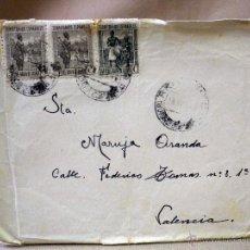 Sellos: CARTA CON SOBRE CIRCULADO, GUINEA ESPAÑOLA, BATA, RIO BENITO, 1946, SELLOS TERRITORIOS ESPAÑOLES. Lote 46725306