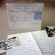 Sellos: CARTA Y SOBRE CIRCULADO, 1949, CON FOTOGRAFIAS GUINEA ESPAÑOLA, BATA A VALENCIA, CERTIFICADO. Lote 47134841